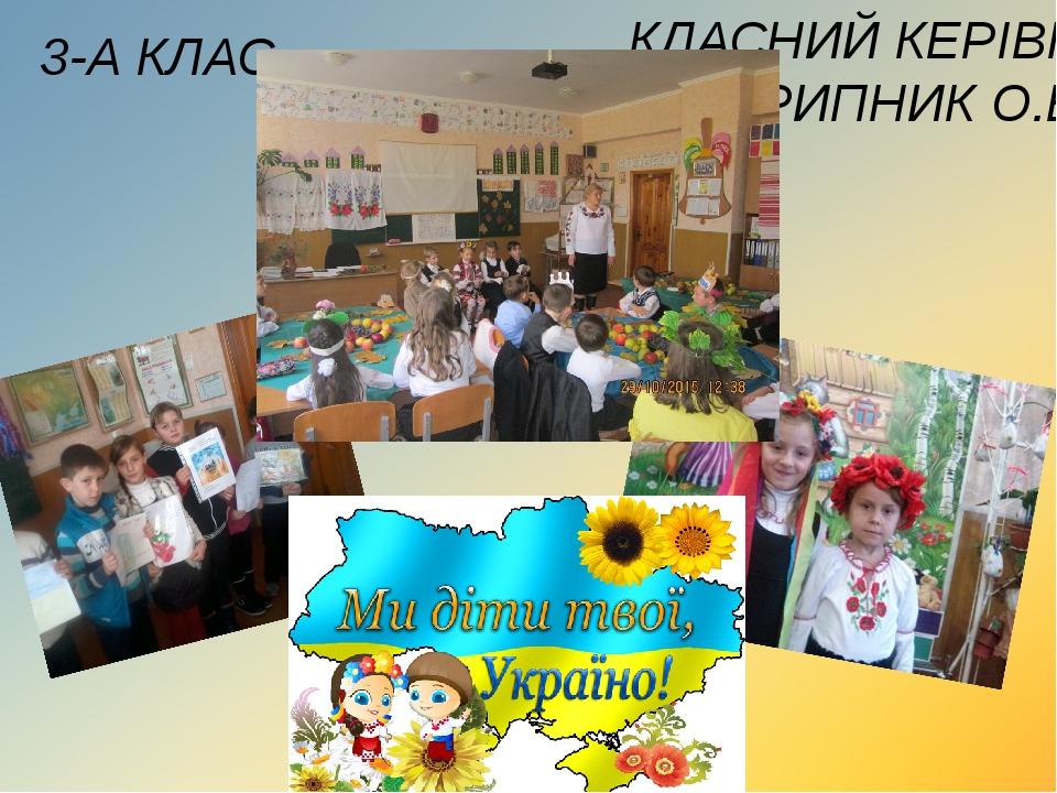 3-А КЛАС КЛАСНИЙ КЕРІВНИК СКРИПНИК О.В.
