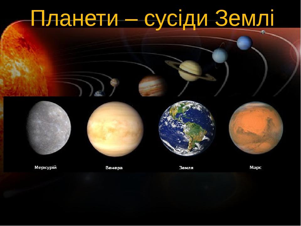 Планети – сусіди Землі