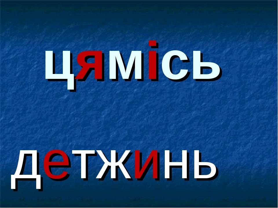 цямісь детжинь