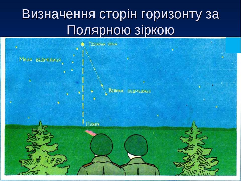 Визначення сторін горизонту за Полярною зіркою