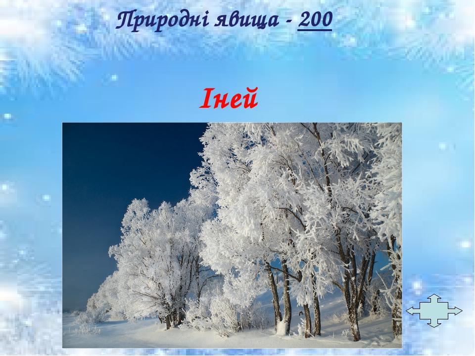 Іней Природні явища - 200