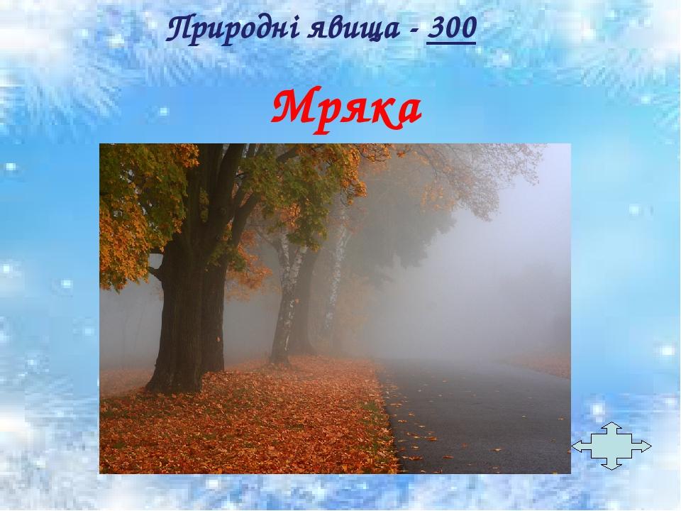 Мряка Природні явища - 300