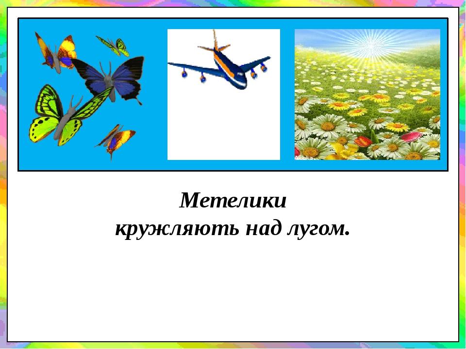 Метелики кружляють над лугом.
