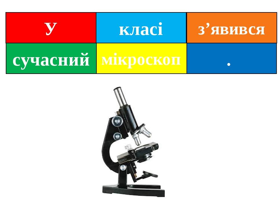 класі . сучасний мікроскоп У з'явився