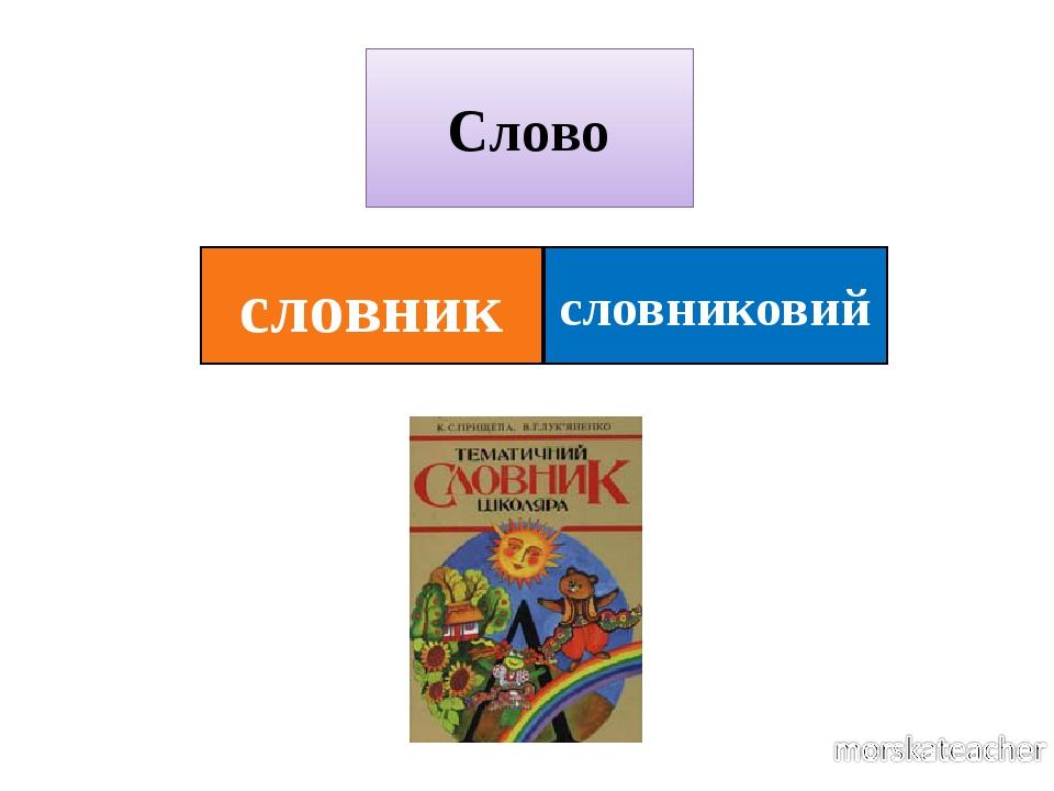 словниковий Слово словник