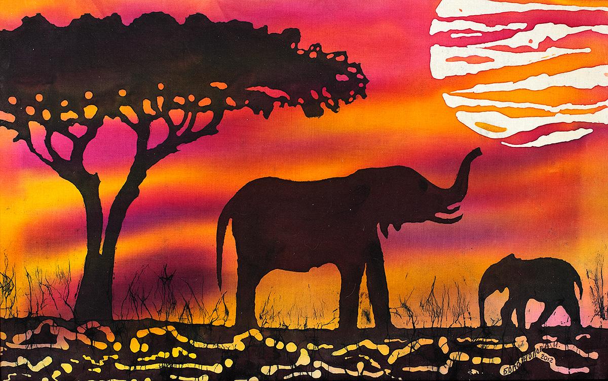 ответственно африканский пейзаж рисунки карандашом оставив