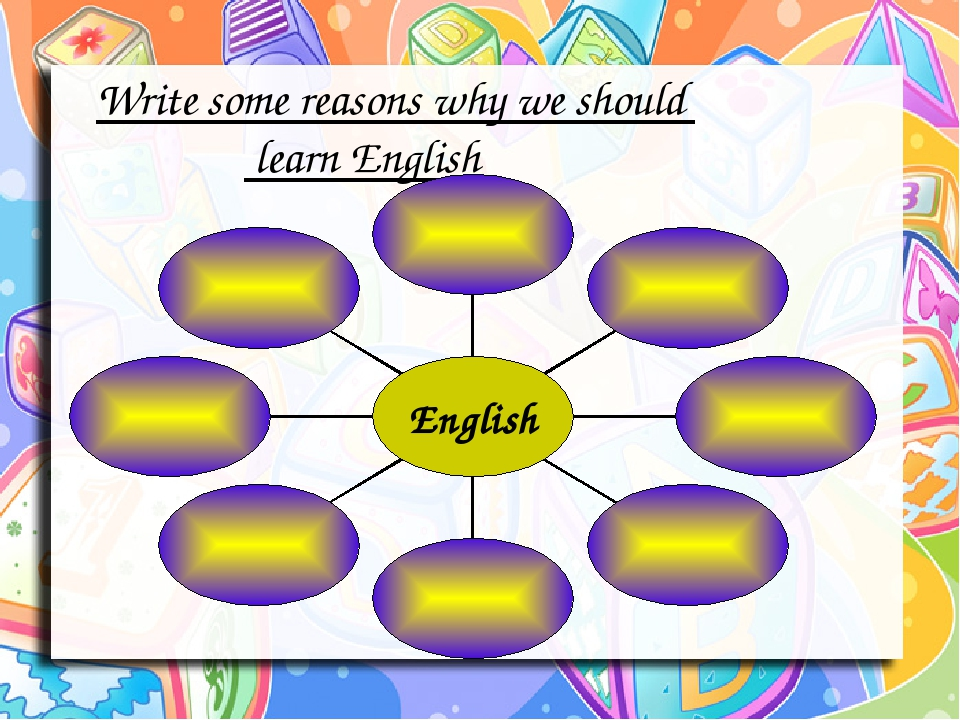 Write some reasons why we should learn English English
