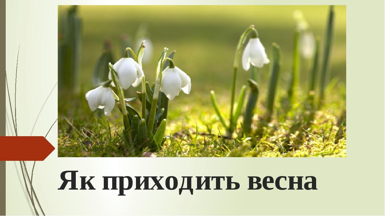 Як приходить весна