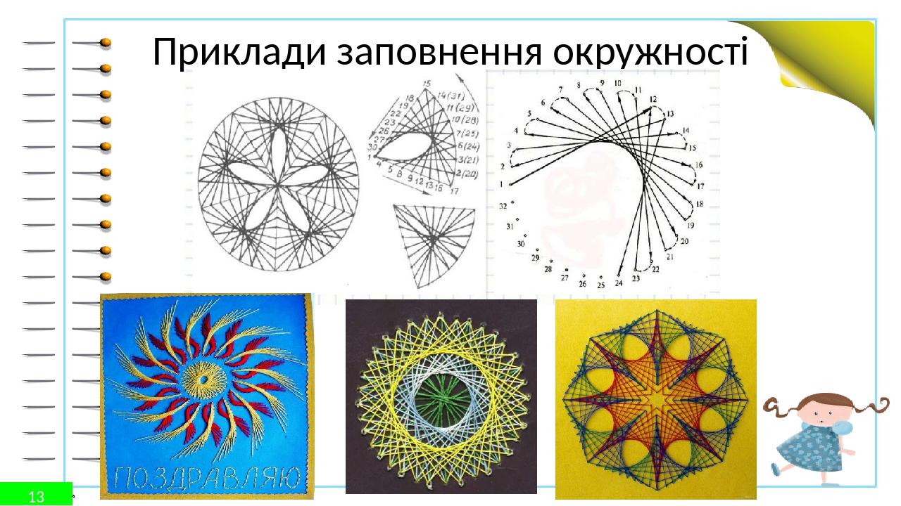 Приклади заповнення окружності 13 © Фокина Лидия Петровна