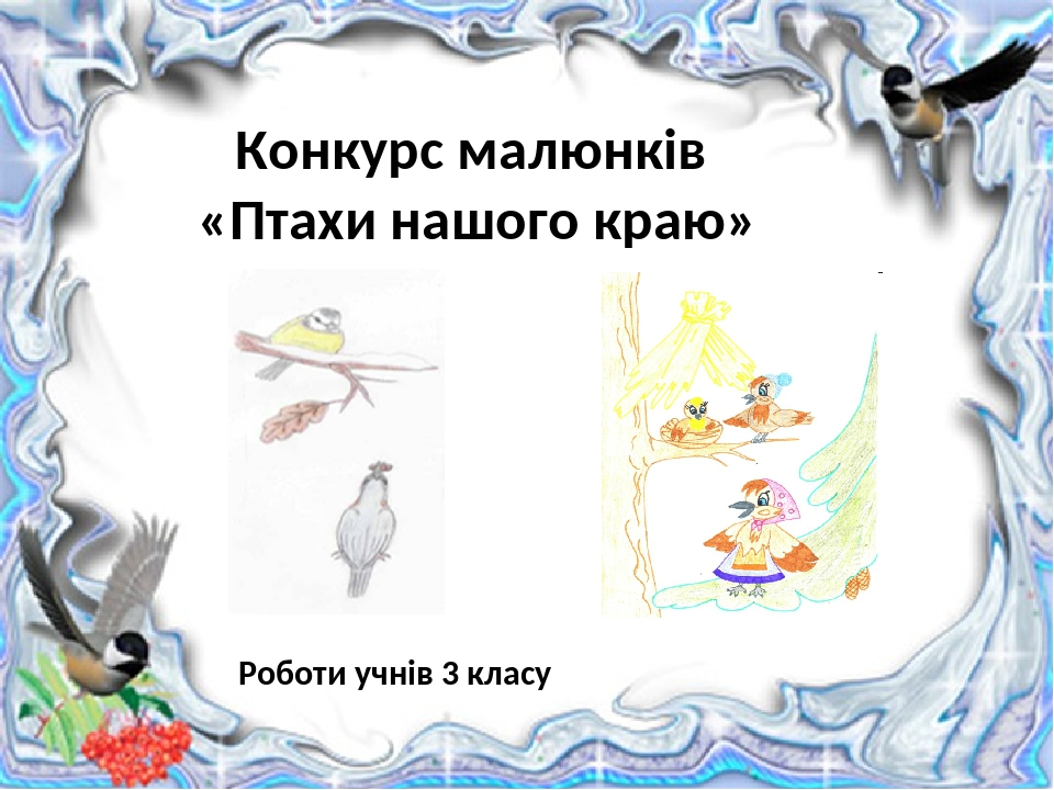 Конкурс малюнків «Птахи нашого краю» Роботи учнів 3 класу