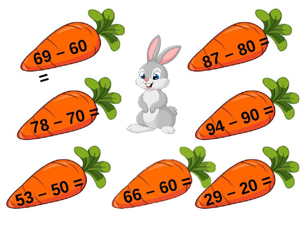 69 – 60 = 78 – 70 = 53 – 50 = 87 – 80 = 94 – 90 = 66 – 60 = 29 – 20 =