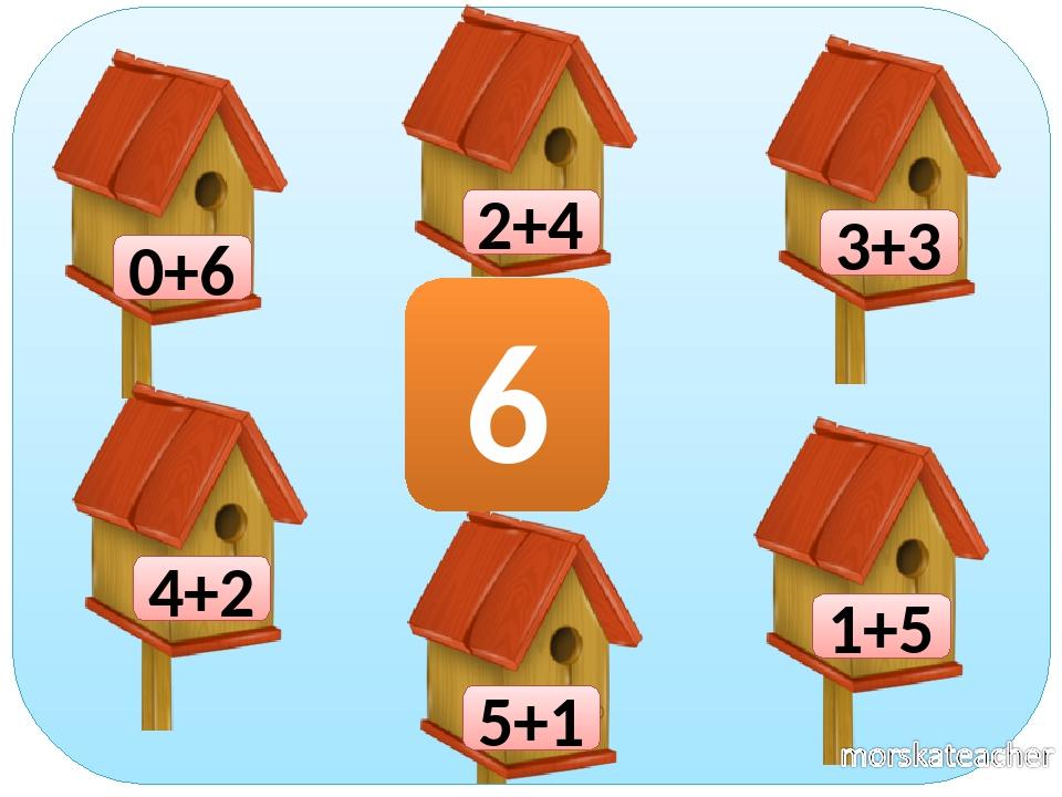0+6 1+5 2+4 3+3 4+2 5+1 6
