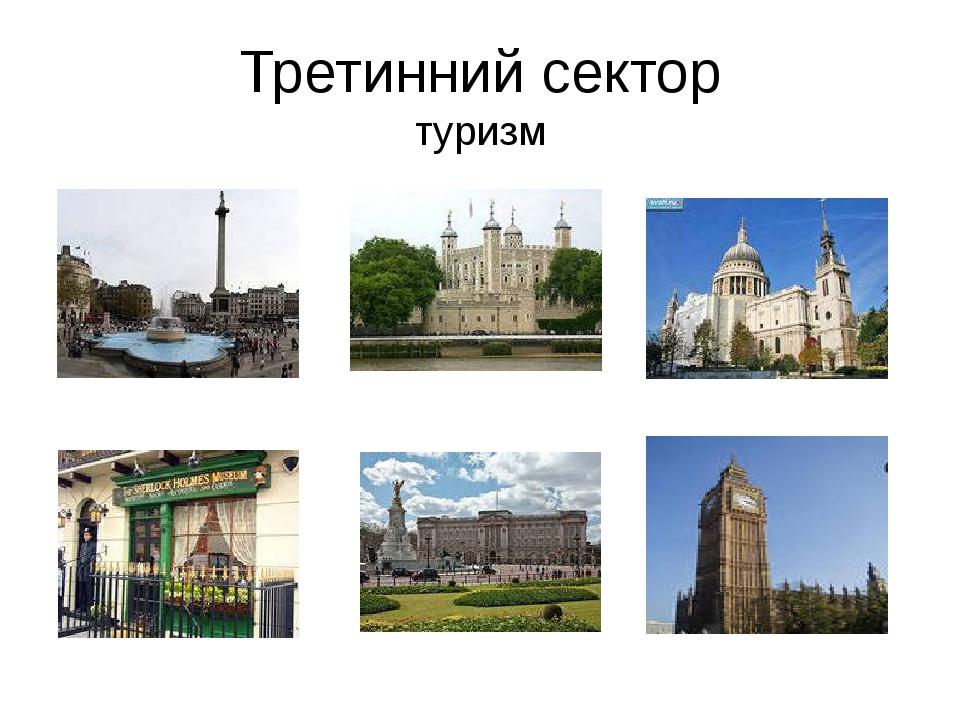 Третинний сектор туризм