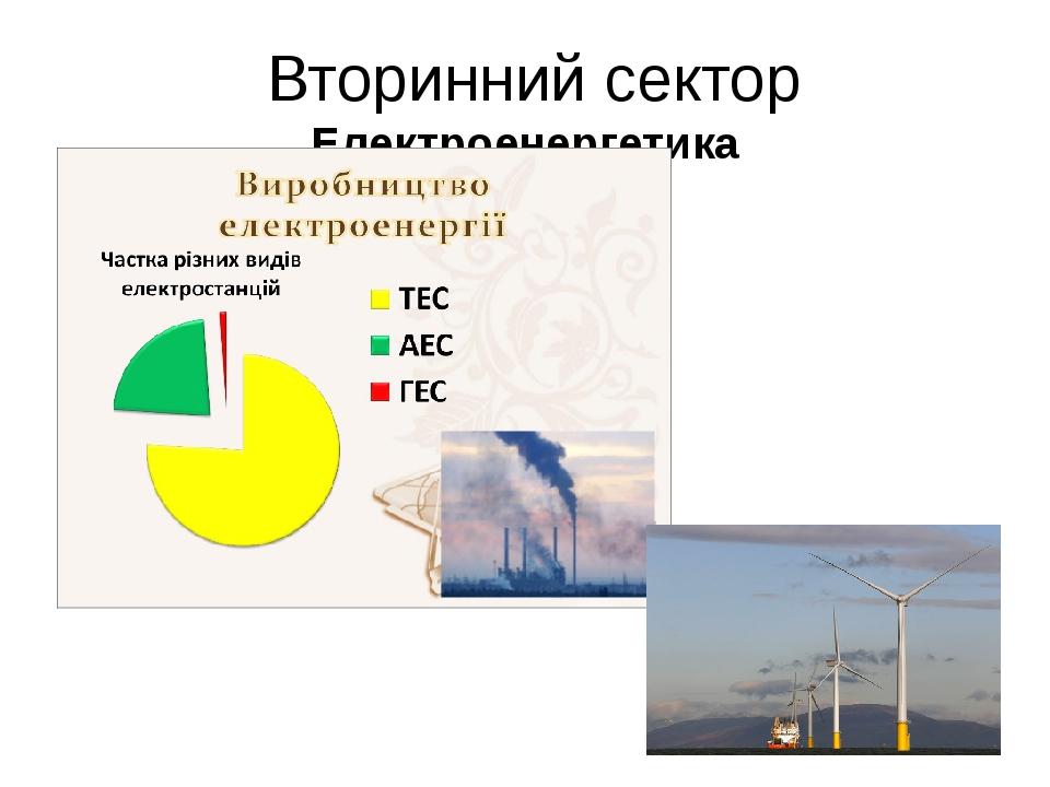Вторинний сектор Електроенергетика