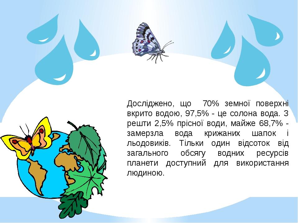 Мультимедійна презентація до Всесвітнього дня води