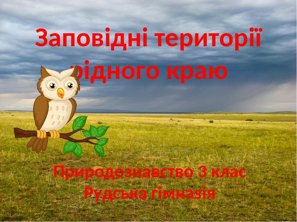 Заповідні території рідного краю Природознавство 3 клас Рудська гімназія