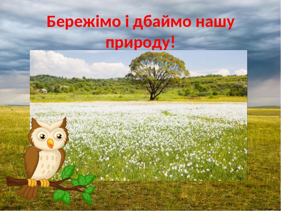 Бережімо і дбаймо нашу природу!