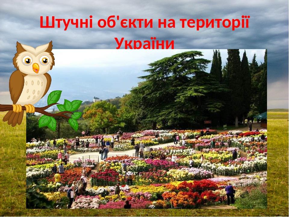 Штучні об'єкти на території України