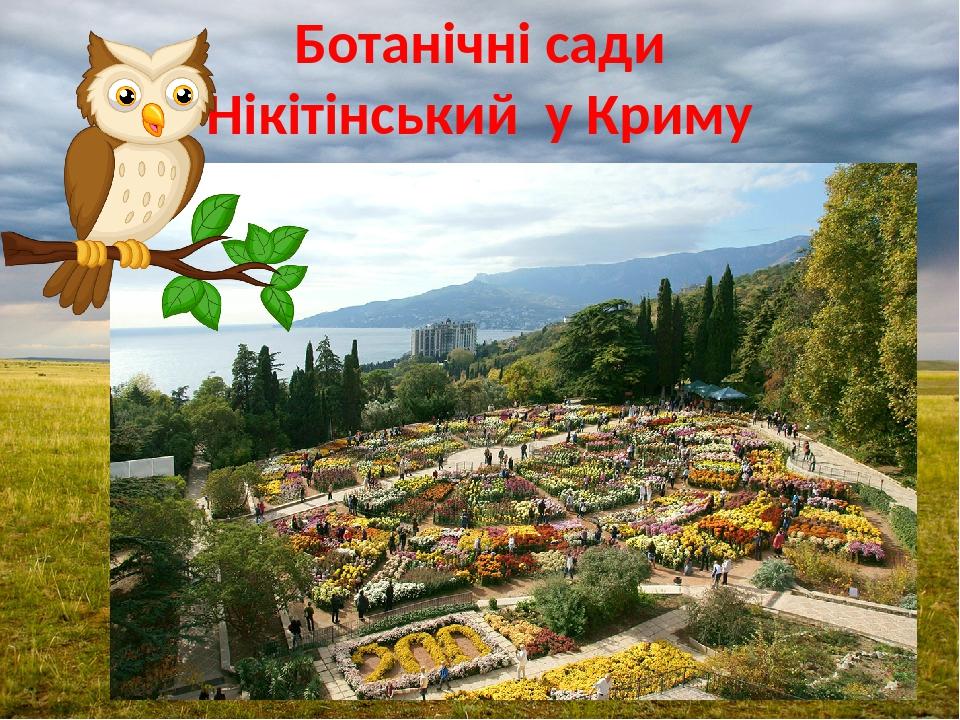 Ботанічні сади Нікітінський у Криму