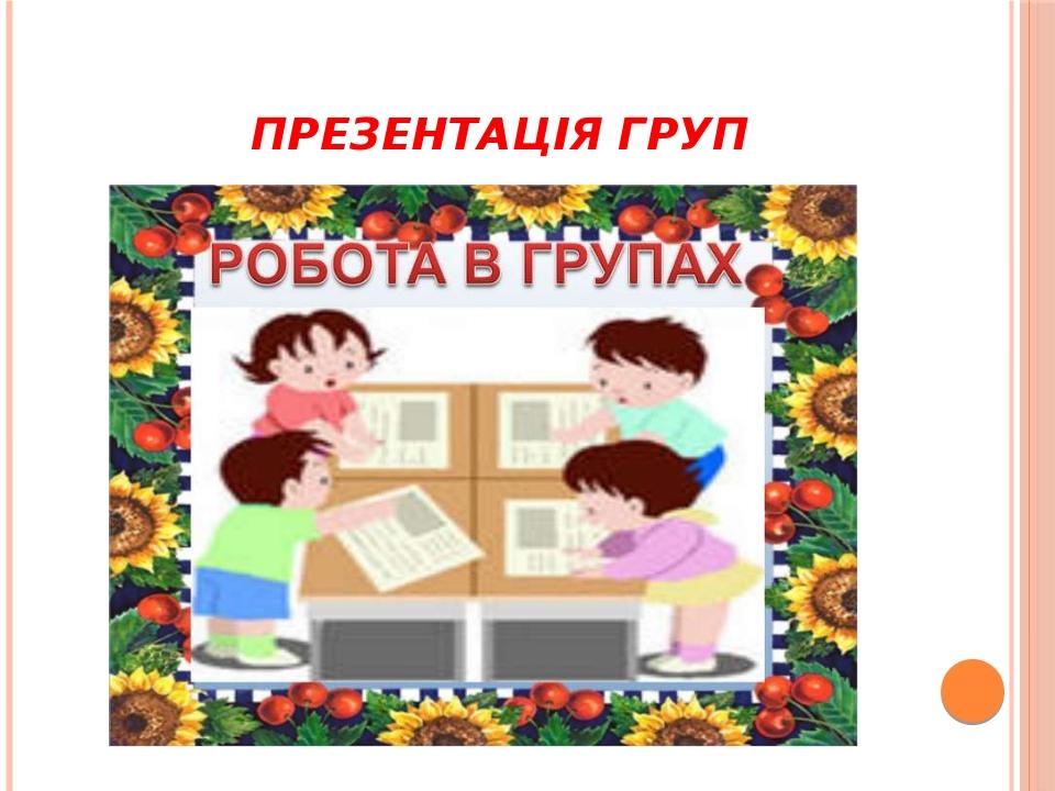 Презентація груп