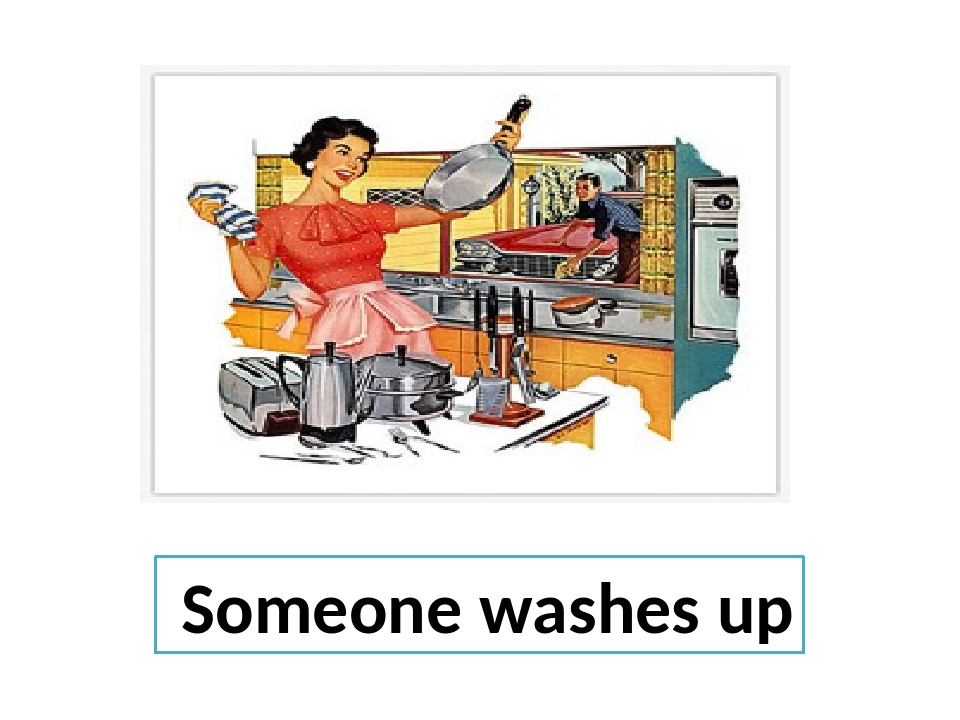 Someone washes up