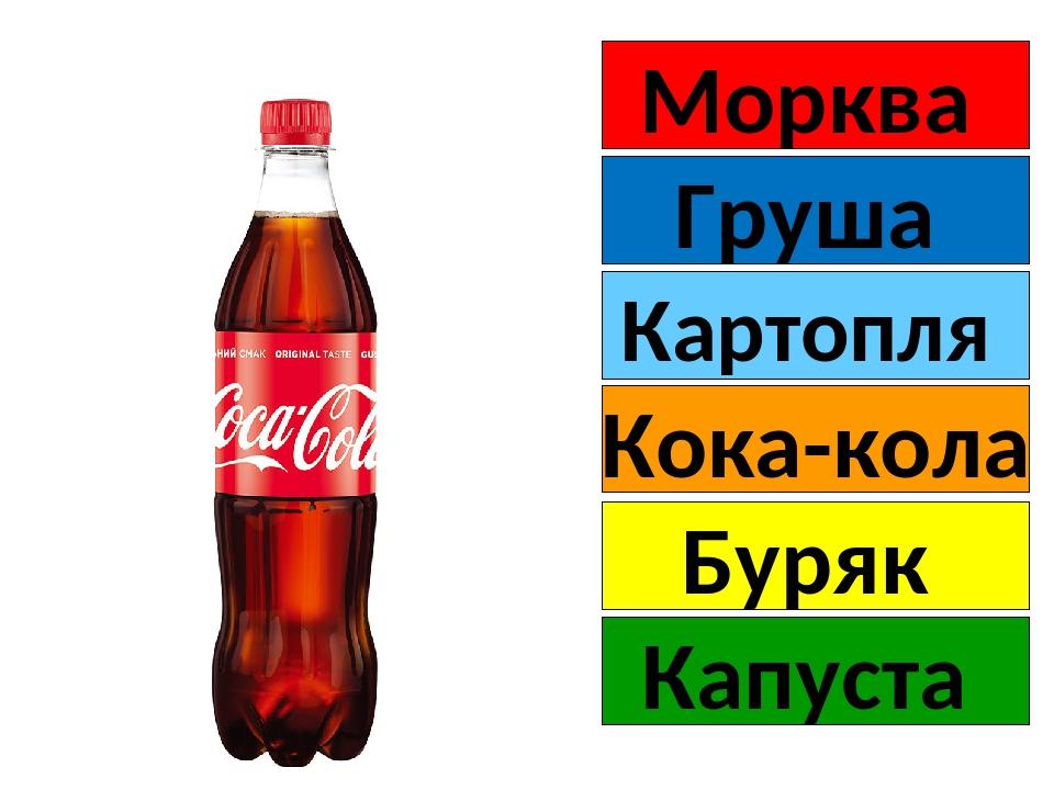 Морква Груша Кока-кола Картопля Буряк Капуста