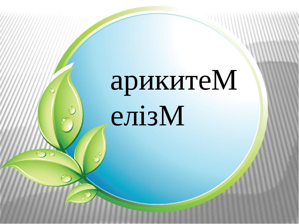 арикитеМ елізМ