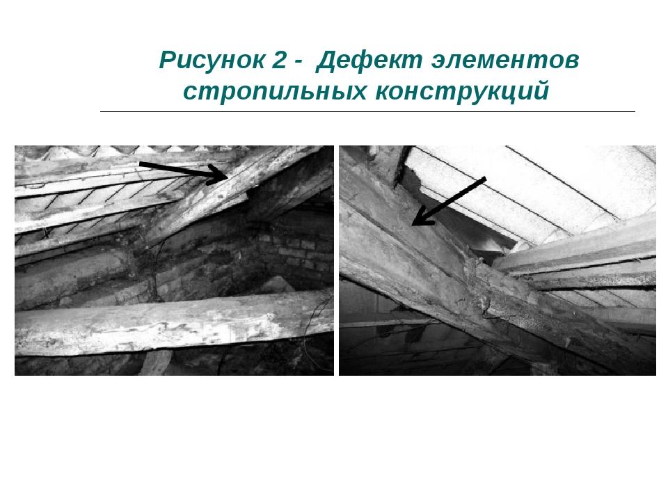 Рисунок 2 - Дефект элементов стропильных конструкций