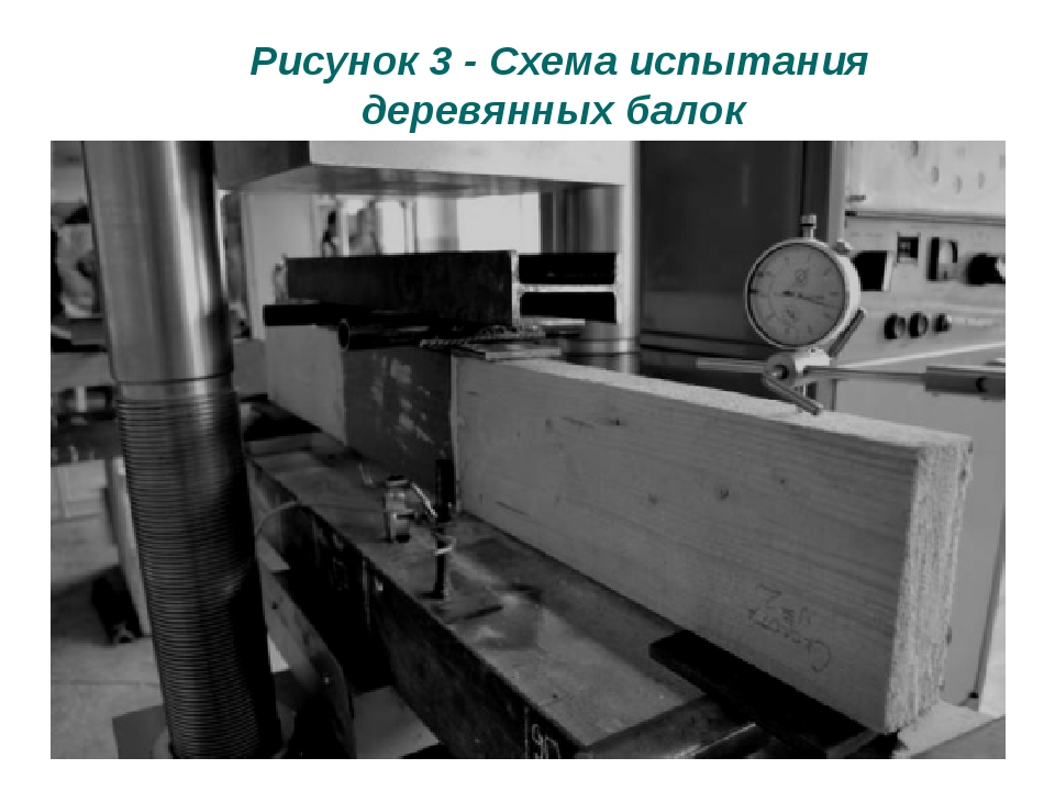 Рисунок 3 - Схема испытания деревянных балок
