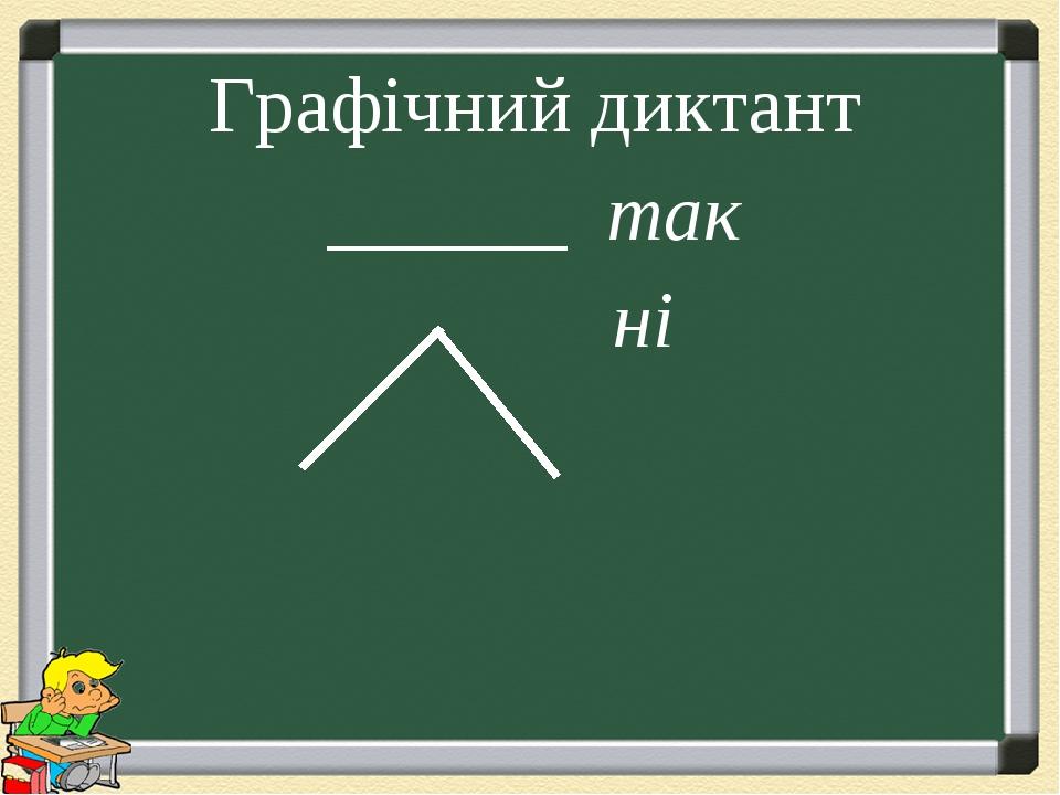 Графічний диктант ______ так ні