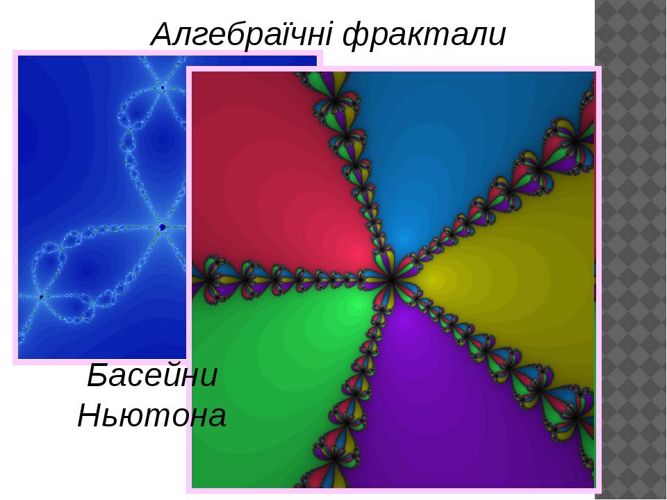 Басейни Ньютона Алгебраїчні фрактали