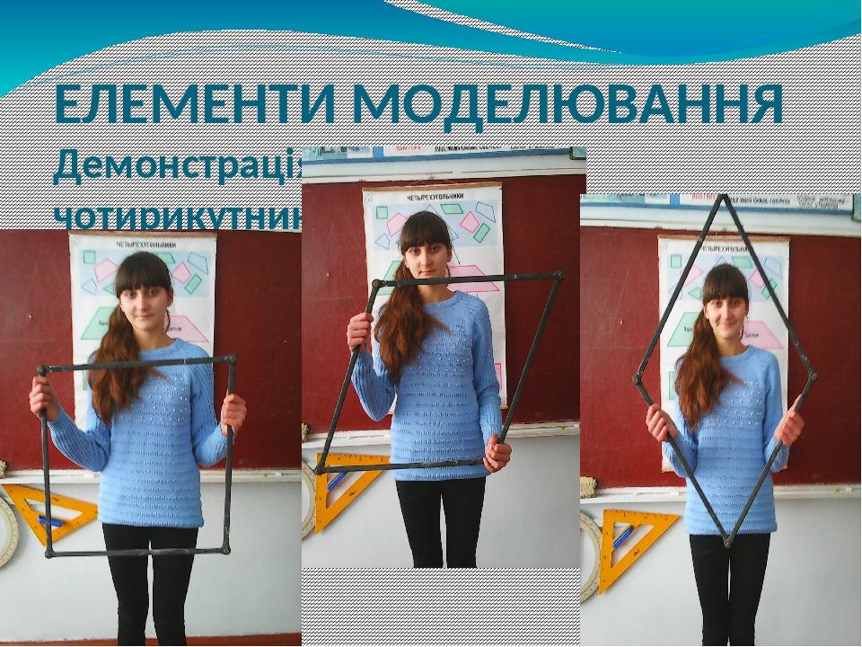ЕЛЕМЕНТИ МОДЕЛЮВАННЯ Демонстрація нежорсткості чотирикутника