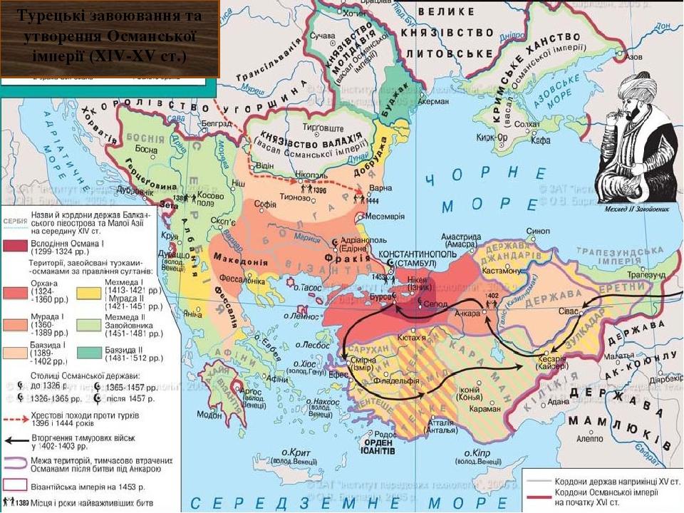 Турецькі завоювання та утворення Османської імперії (XIV-XV ст.)