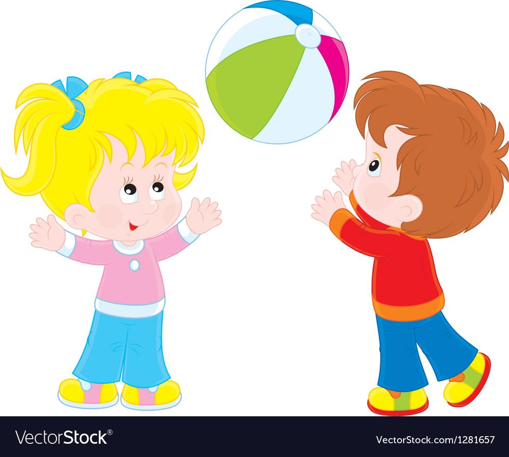 Картинки для детей девочка и мальчик играют