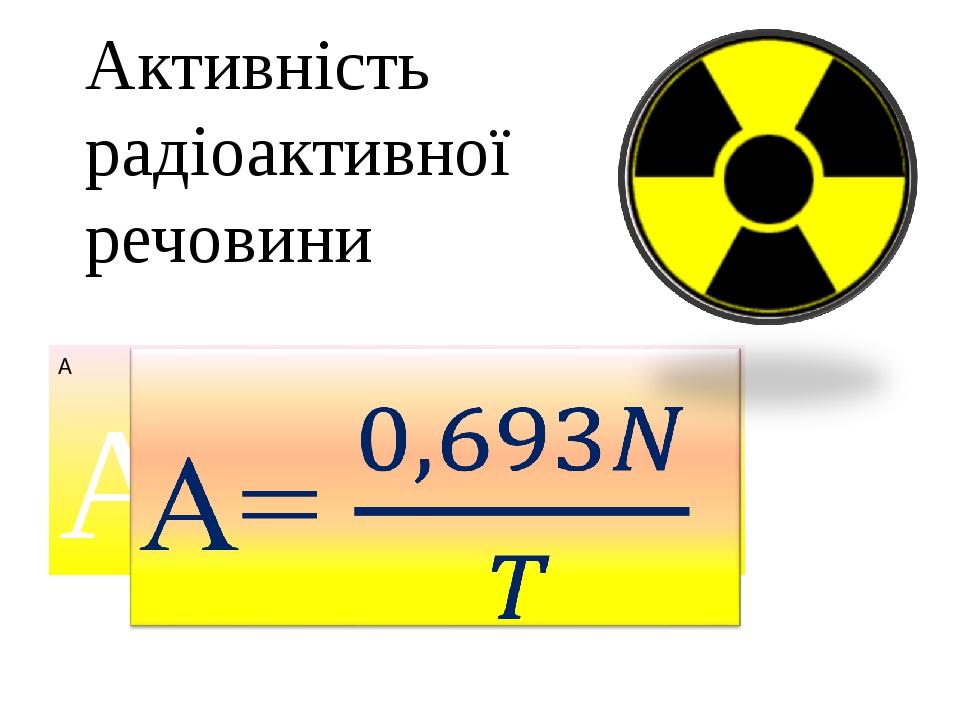 Активність радіоактивної речовини