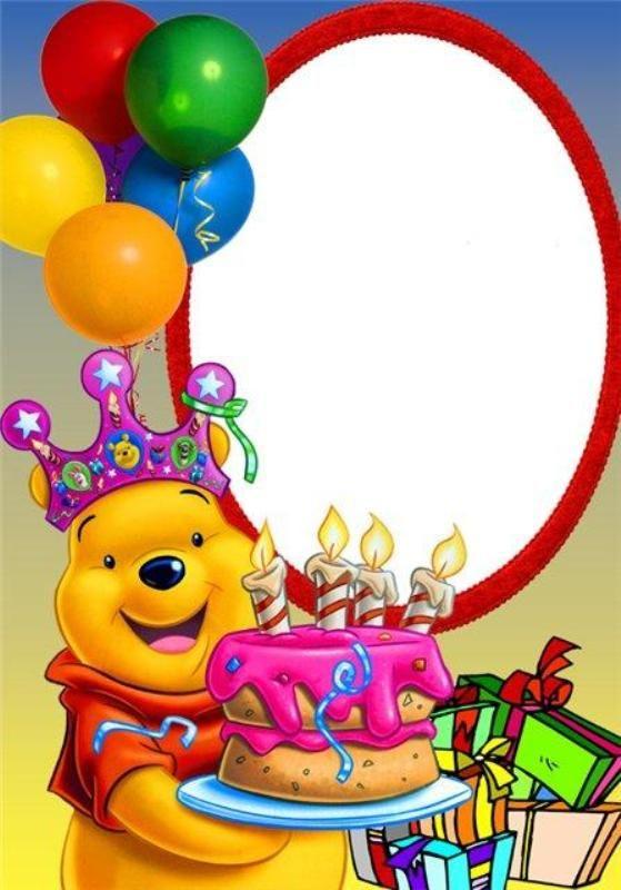 Картинки шаблоны для поздравления с днем рождения детей, март открытках