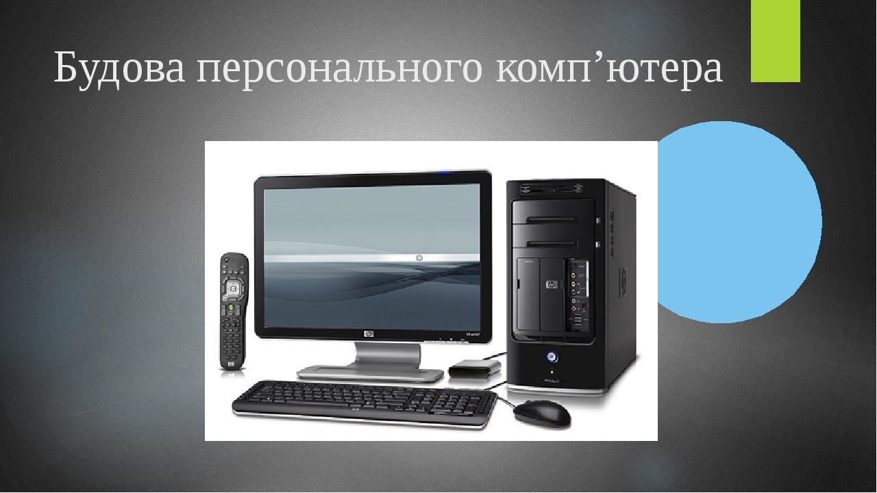 Будова персонального комп'ютера
