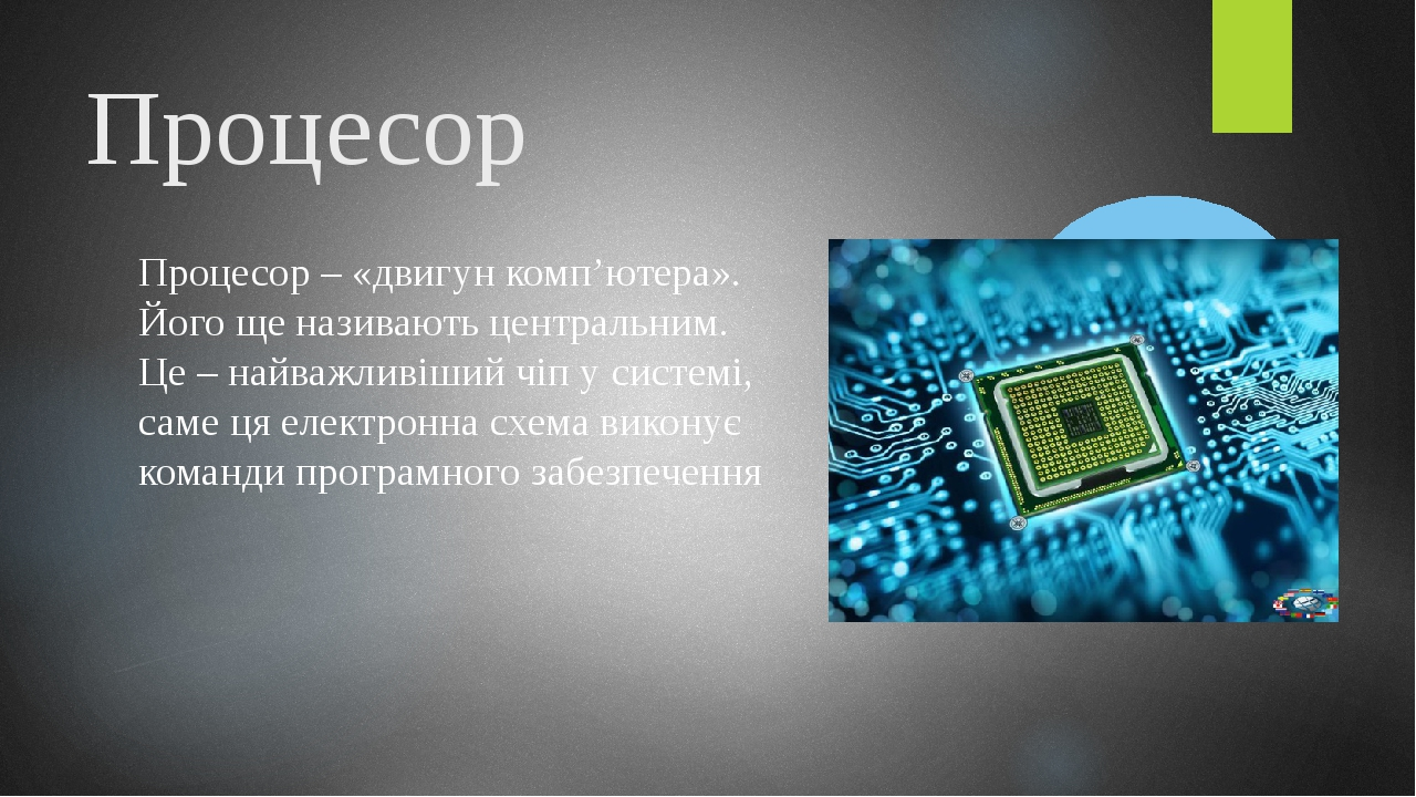 Оперативна пам'ять Це пам'ять, в яку записують усі програми і дані, які використовуються процесором під час опрацювання.