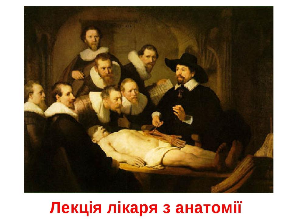 Лекція лікаря з анатомії