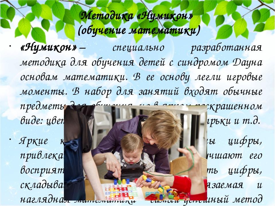 Методика «Нумикон» (обучение математики) «Нумикон»– специально разработанная методика для обучения детей с синдромом Дауна основам математики. В е...