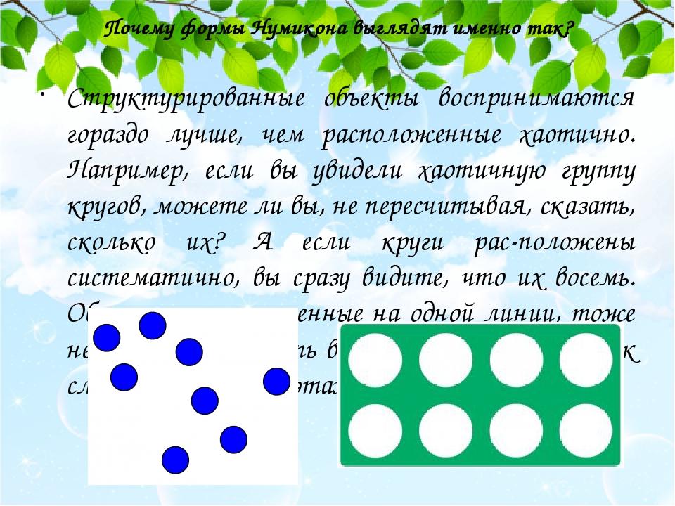 Почему формы Нумикона выглядят именно так? Структурированные объекты воспринимаются гораздо лучше, чем расположенные хаотично. Например, если вы ув...