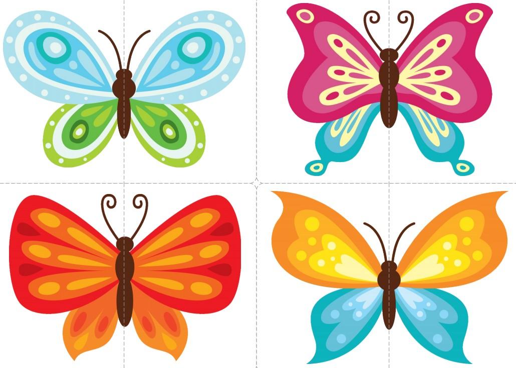 Захоплююча навчальна гра для дітей: Картинки-половинки «Метелики»