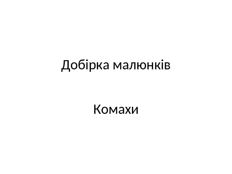 Добірка малюнків Комахи