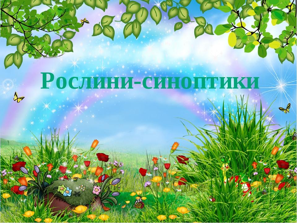 Рослини-синоптики