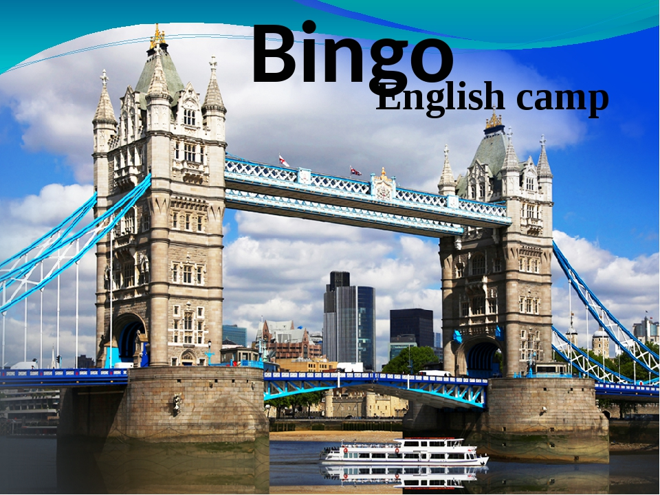 Bingo English camp