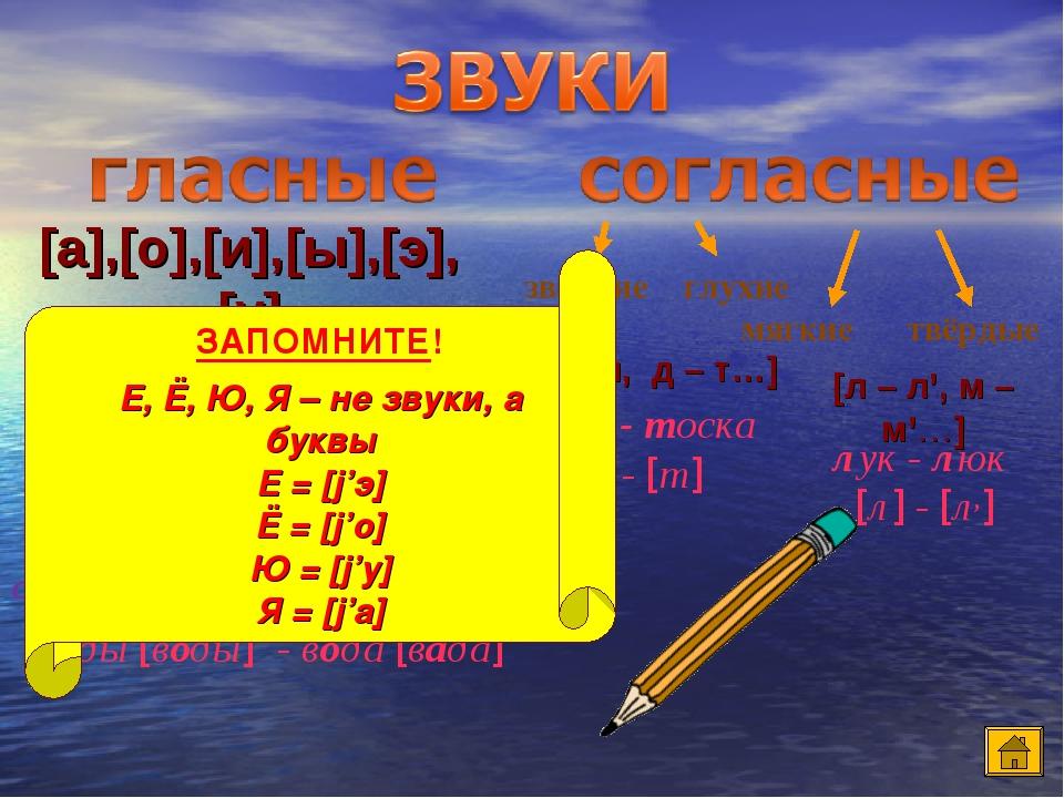 ударные безударные [а],[о],[и],[ы],[э],[у] сильная позиция слабая позиция (не меняют своё качество) (меняют своё качество) воды [воды] - вода [вада...