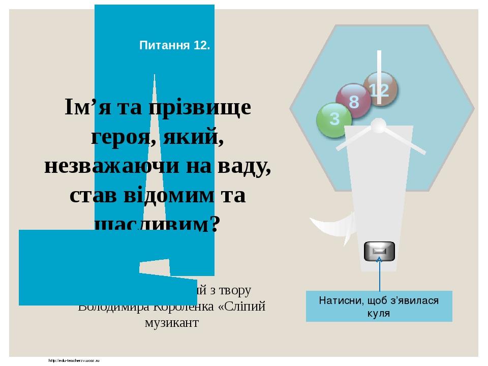 http://edu-teacherzv.ucoz.ru Назва твору, в якому автор закликає замислитися людство над своїм майбутнім? Рей Дуглас Бредбері «Усмішка» Відповідь Н...