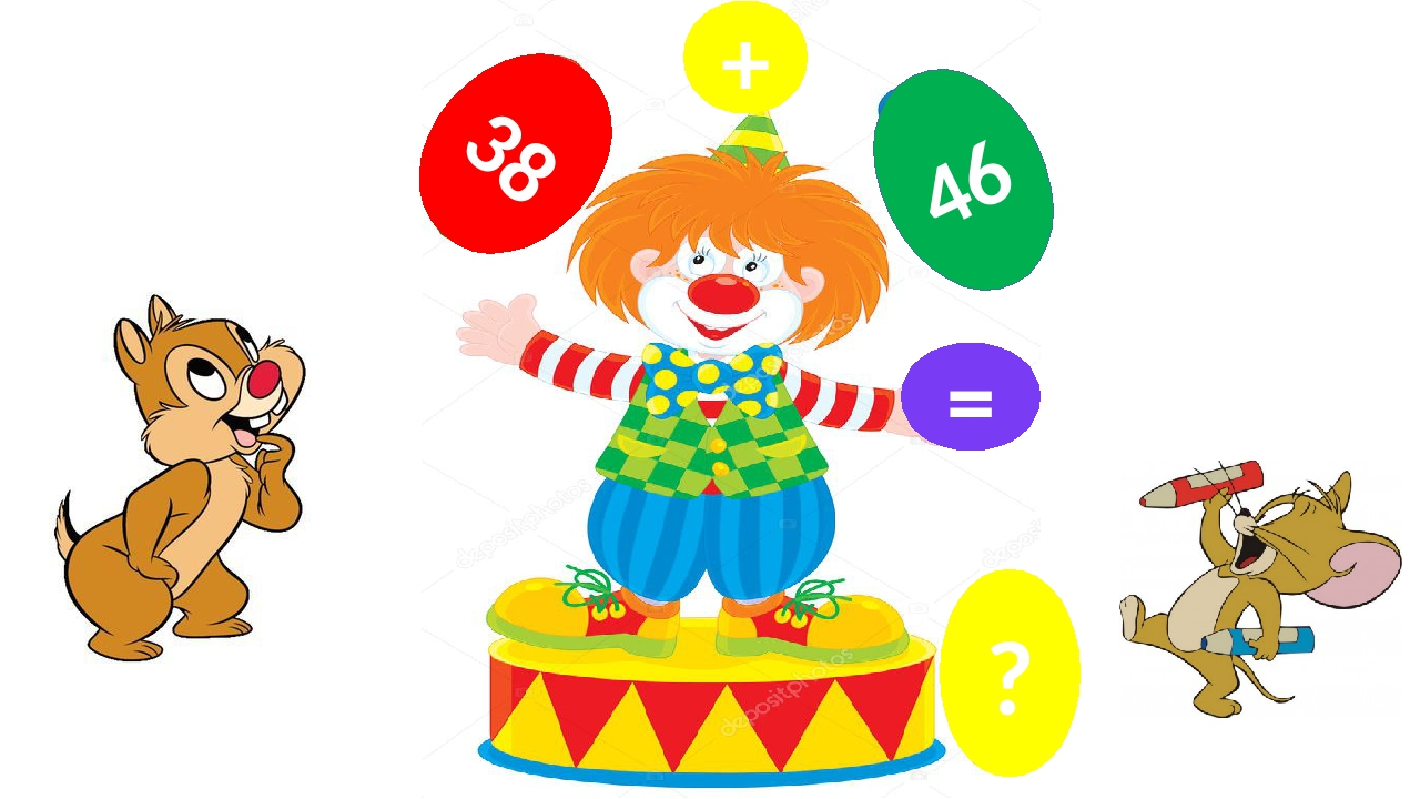 38 + 46 = ?