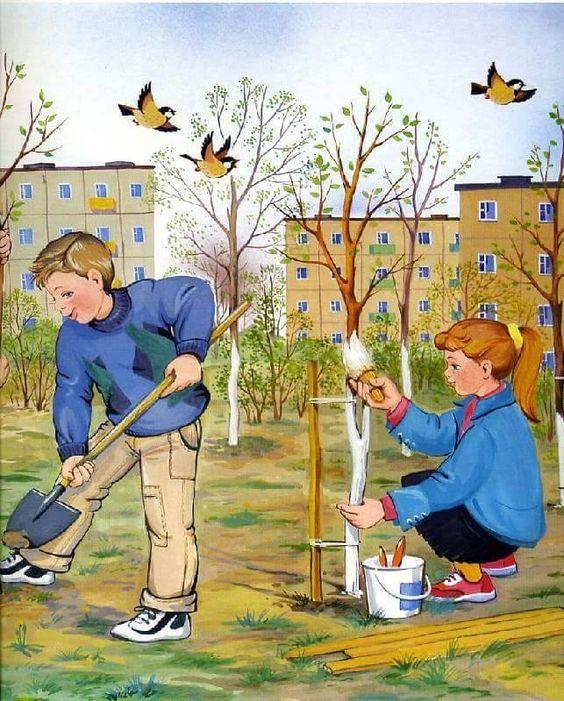 Картинки для младших школьников на тему весна, красивые новорожденной
