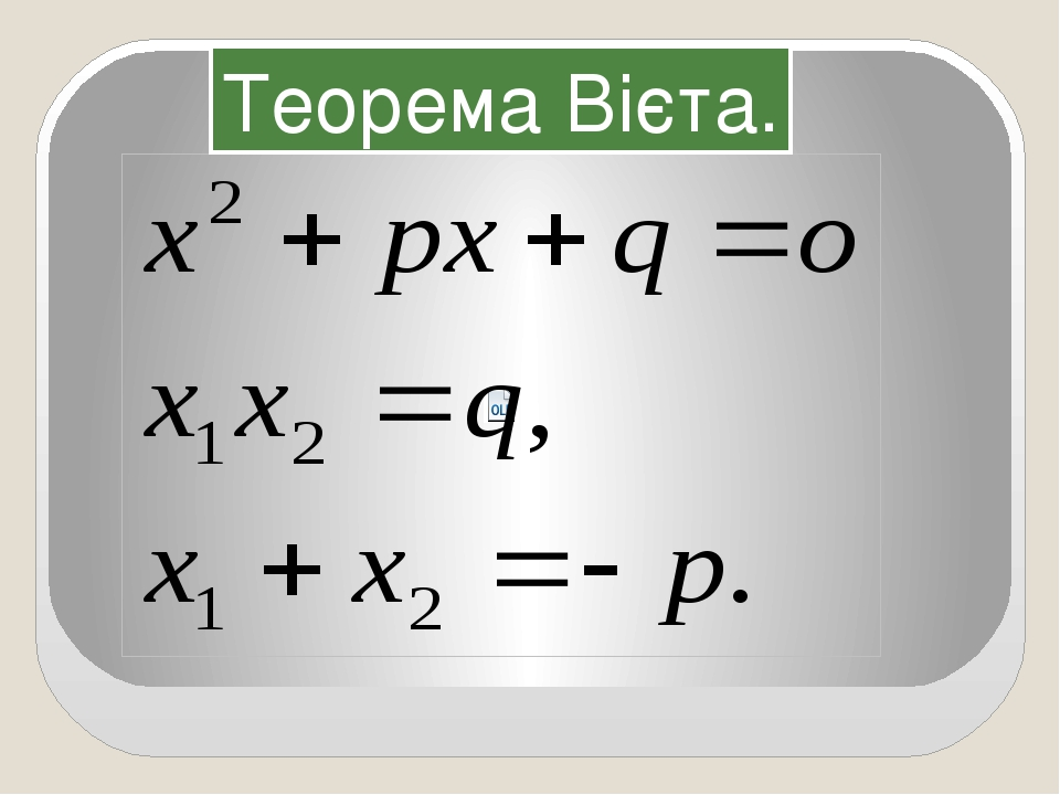 Теорема Вієта.